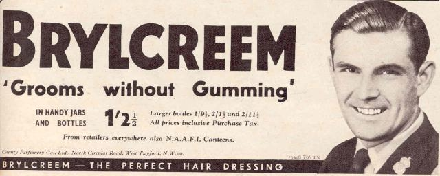 Brylcreem Hair Styles: Random Notes From The 1950s (May 28, 2009)