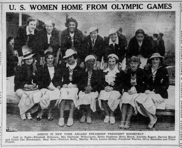 Women Olympic Picture The_Boston_Globe_Mon__Aug_31__1936_