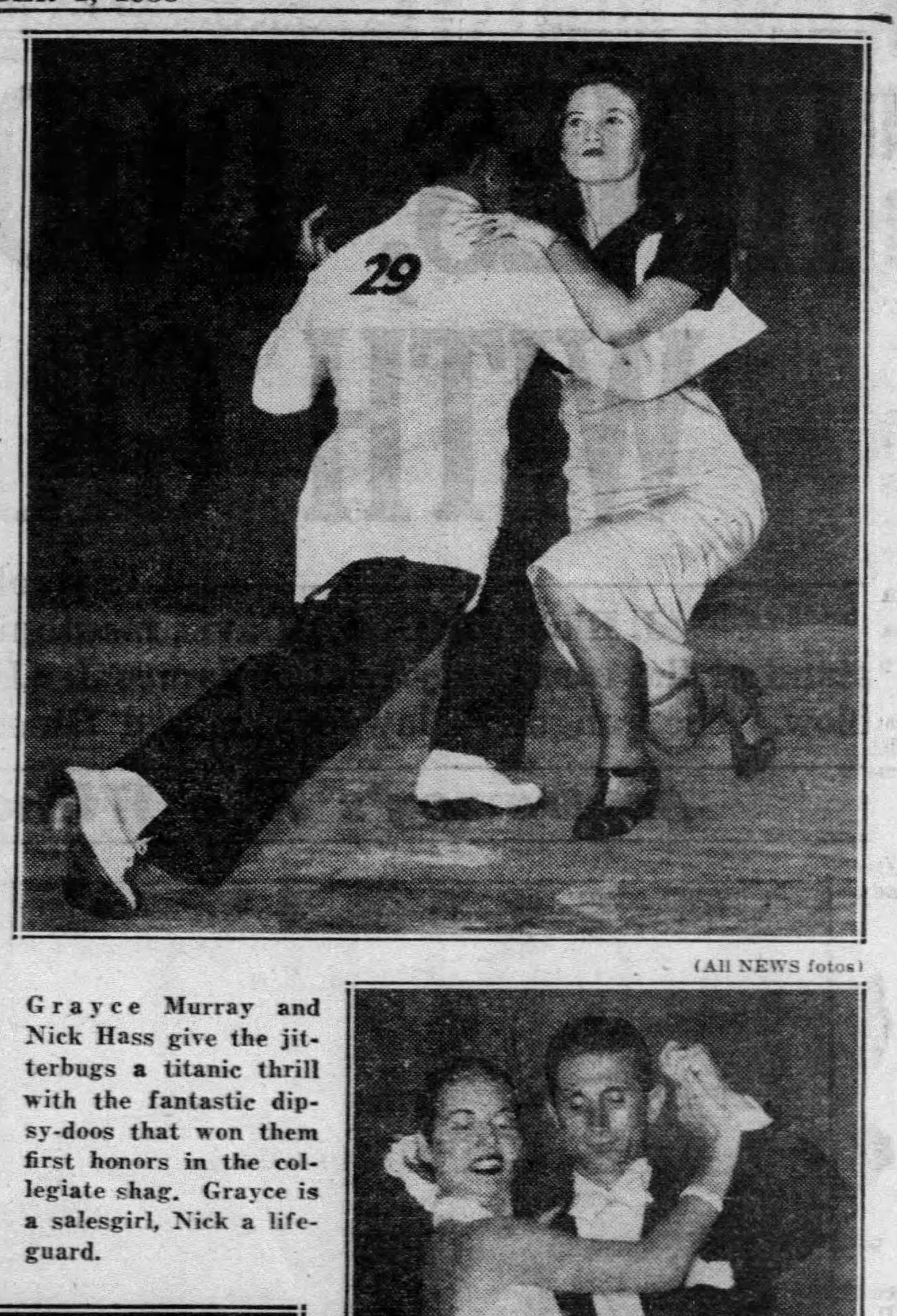 1938 Pic George Ricker and Norma Miller Daily_News_Thu__Sep_1__1938_