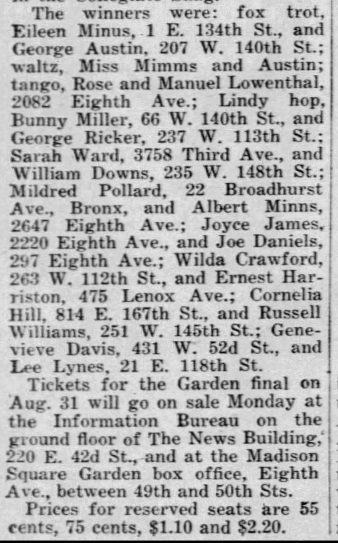 1938 Savoy finalist with names Daily_News_Sat__Aug_13__1938_