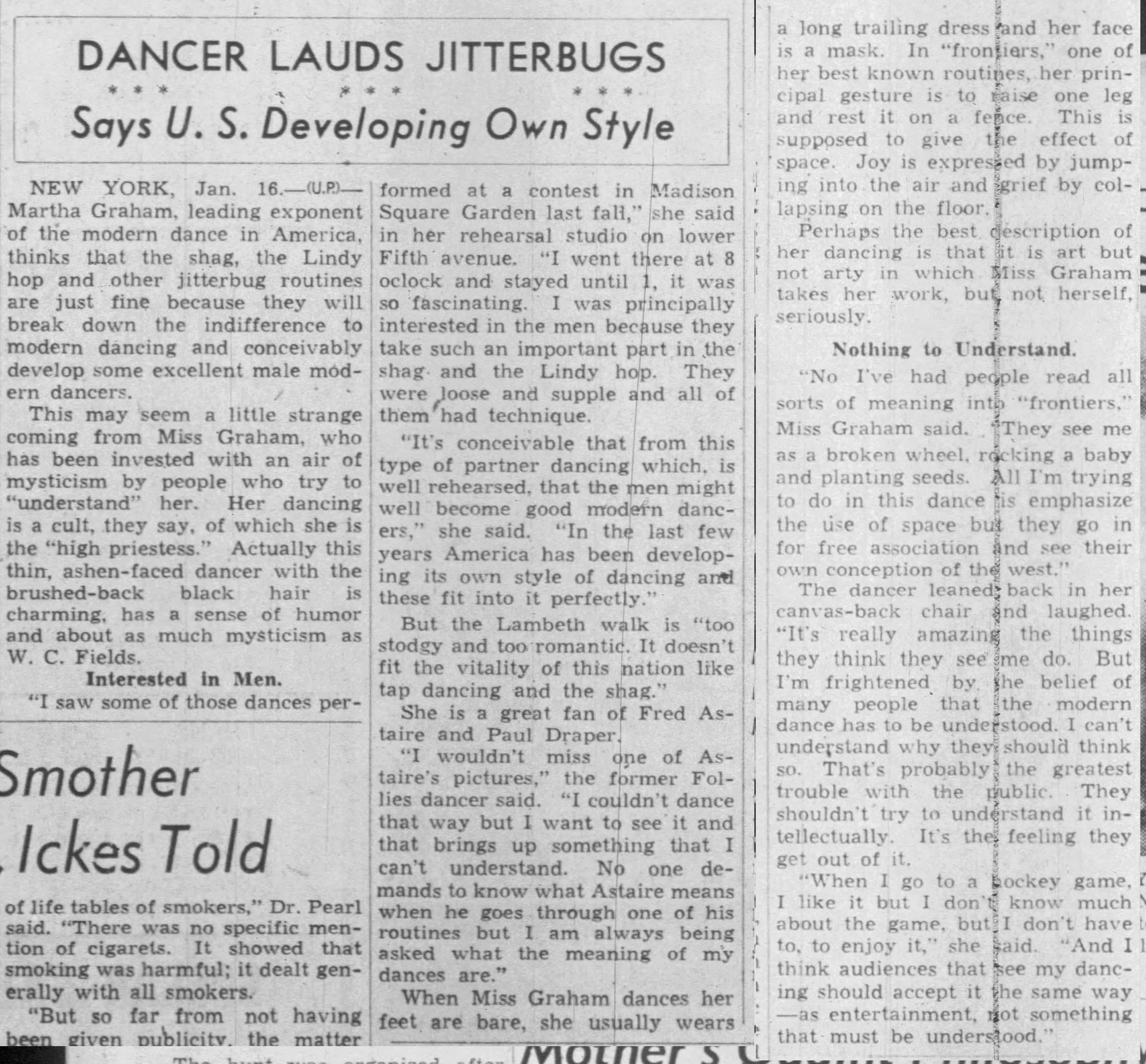 1938 HMB martha gram cut The_Journal_Times_Mon__Jan_16__1939_