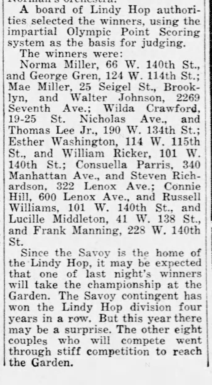 1939 svoy prelims pic TOhomas lee and Wilda Crawford newsapepr pic Daily_News_Sat__Aug_26__1939_
