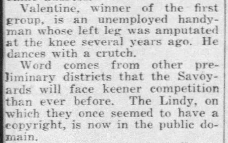 1940 Savoy finalist note JIMMY VALENTINE Daily_News_Sat__Aug_10__1940_