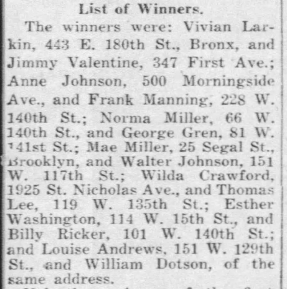 1940 savoy finalists