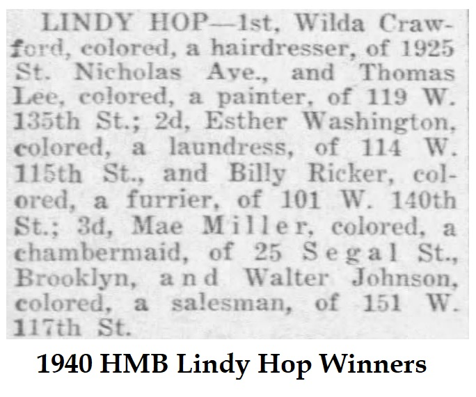 1940 winners