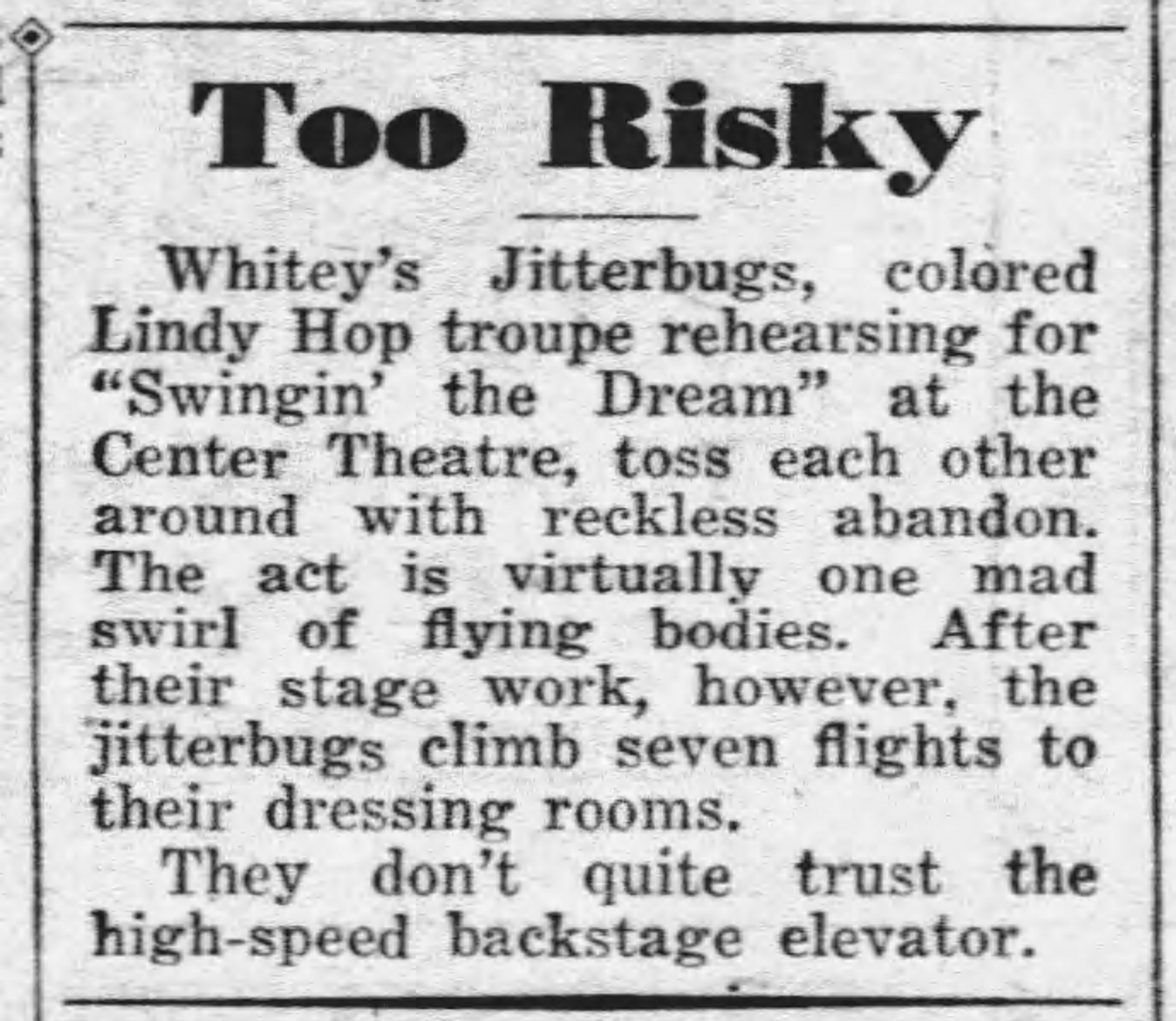 Swing the dream Whitey's Daily_News_Tue__Nov_7__1939_
