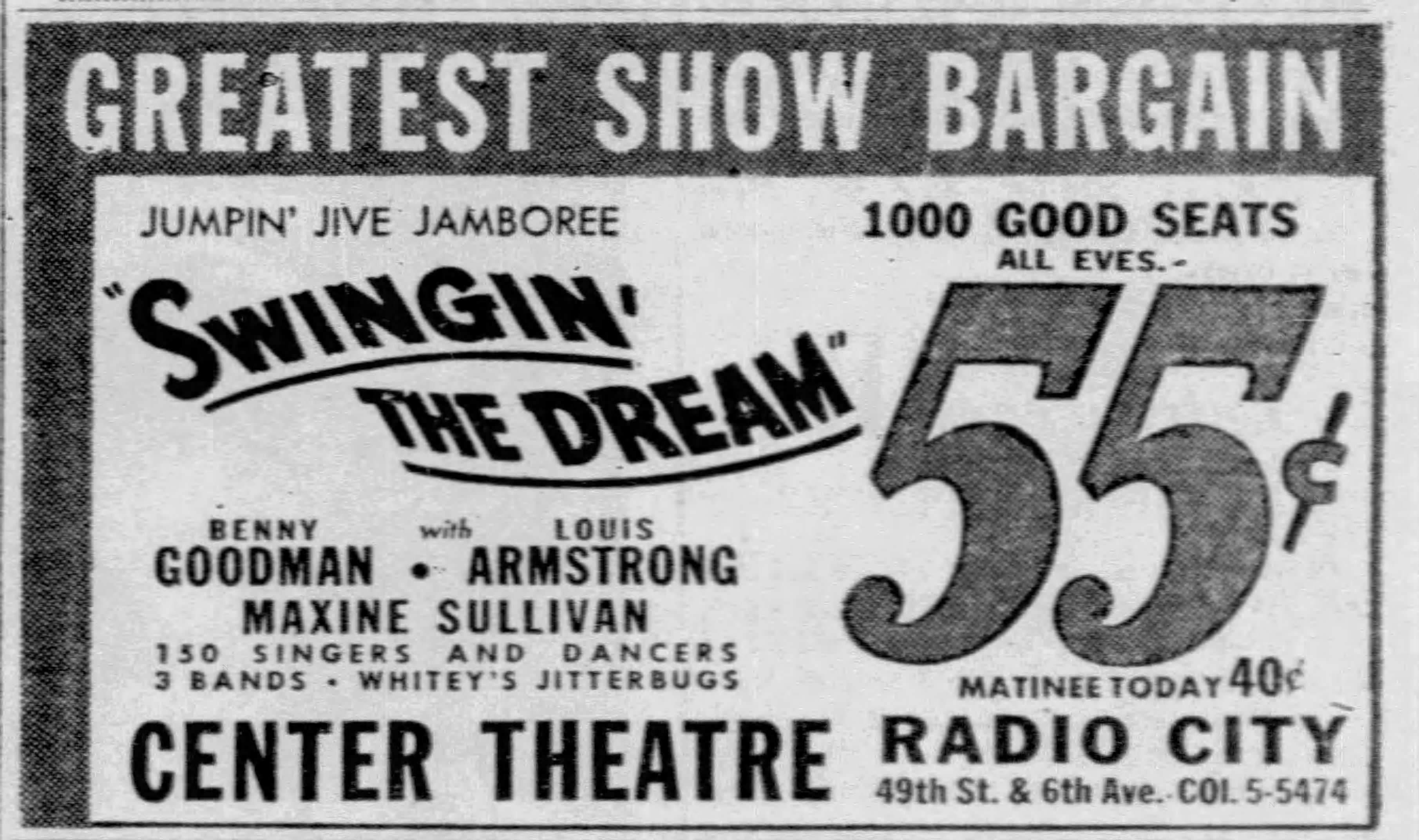 Whitey's Lindy Hoppers swing dream ad Daily_News_Wed__Dec_6__1939_