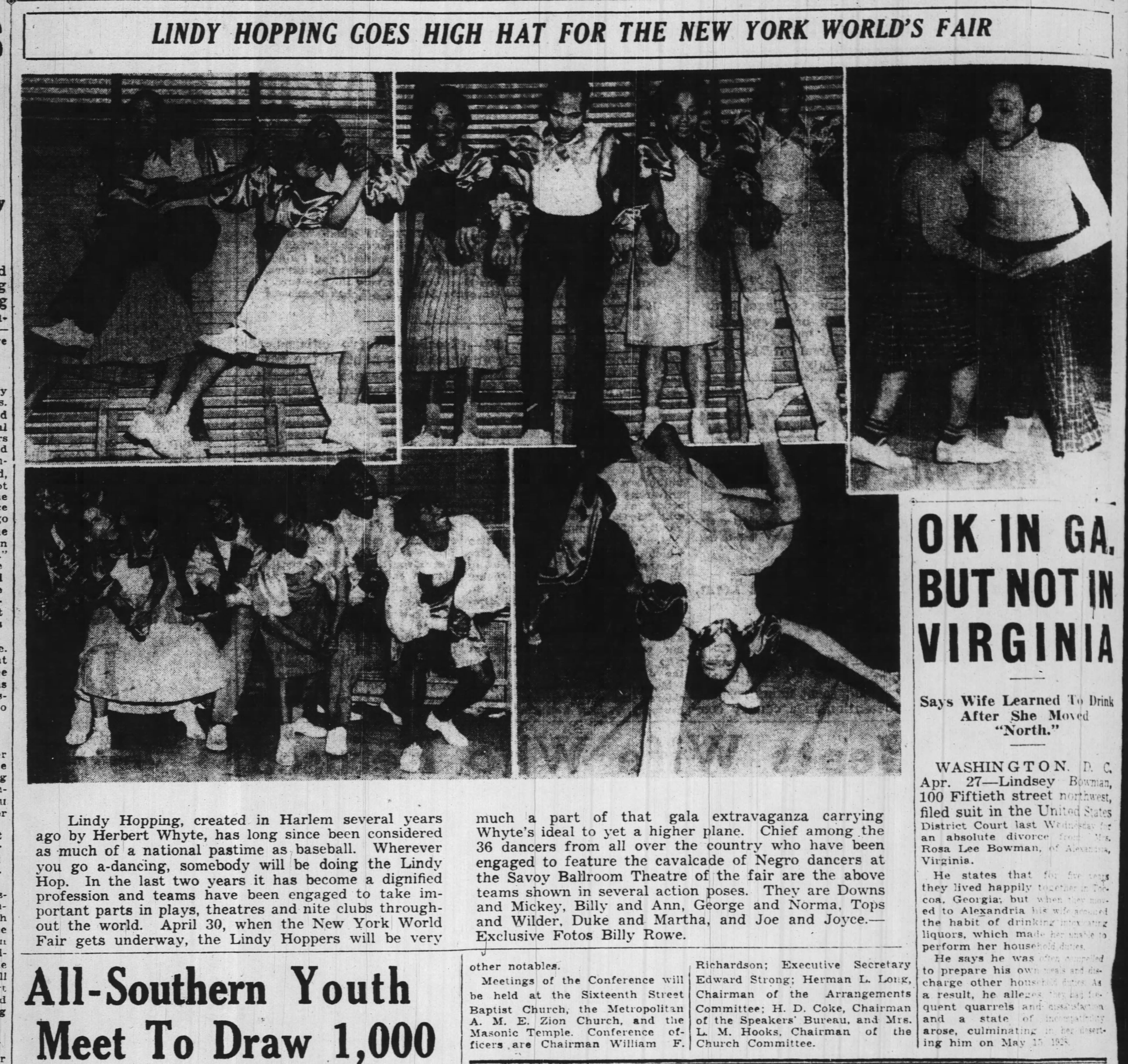 GIANT PICTURE spread on worlds fair svaoy linndy The_Pittsburgh_Courier_Sat__Apr_29__1939_