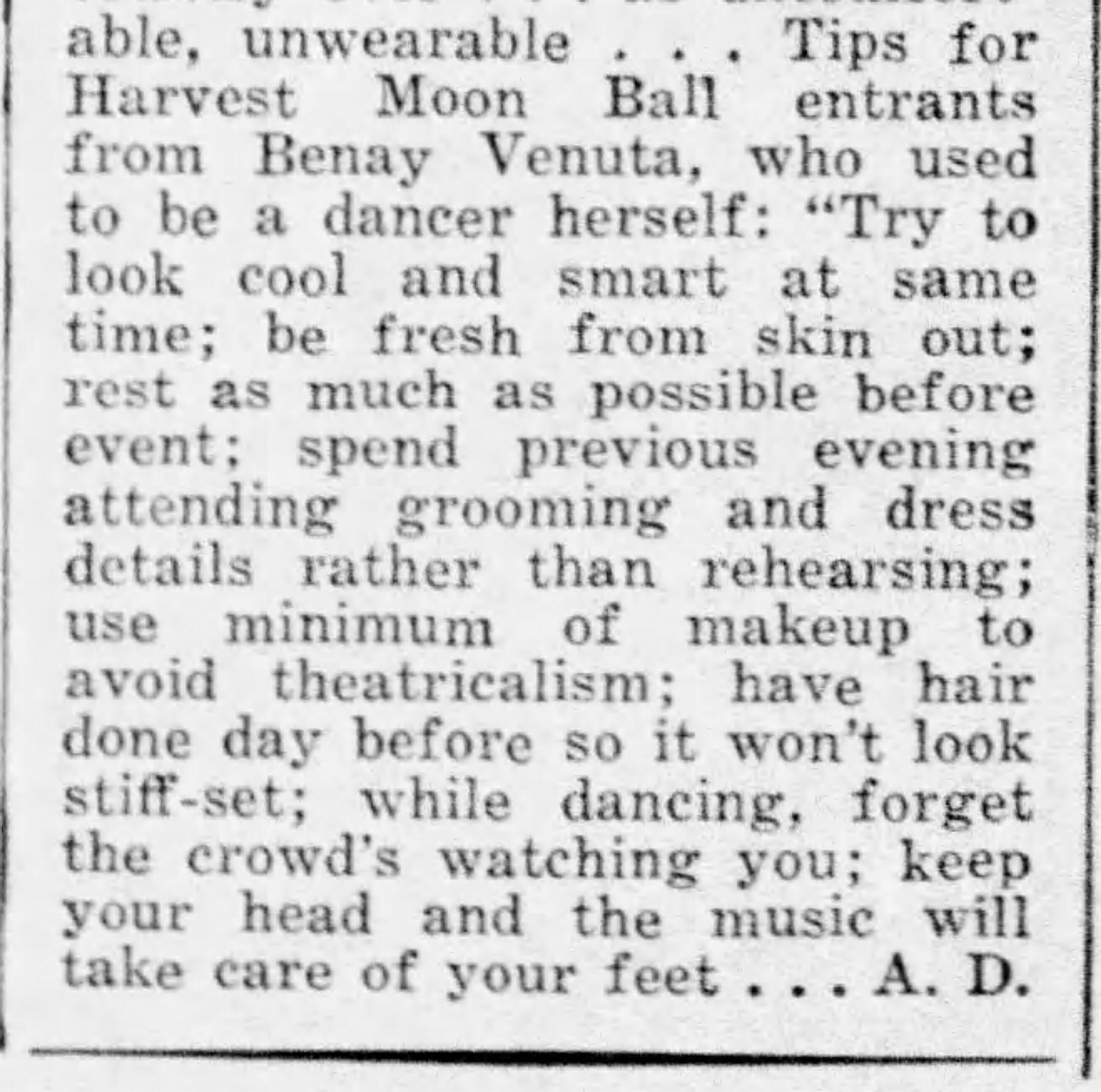 Tips for dancers in the HMB Daily_News_Sat__Aug_19__1939_