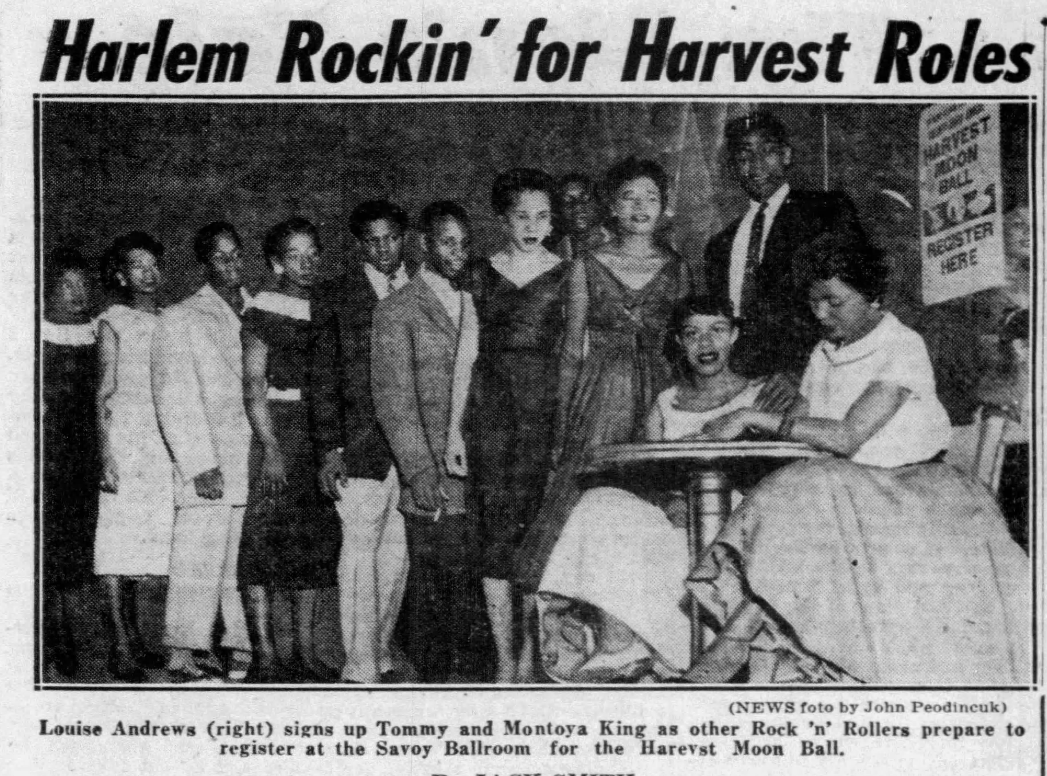 Louise Andrews signs up contestants Daily_News_Sat__Aug_24__1957_